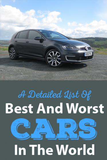 A Detailed List Of Best And Worst Cars In The World banner