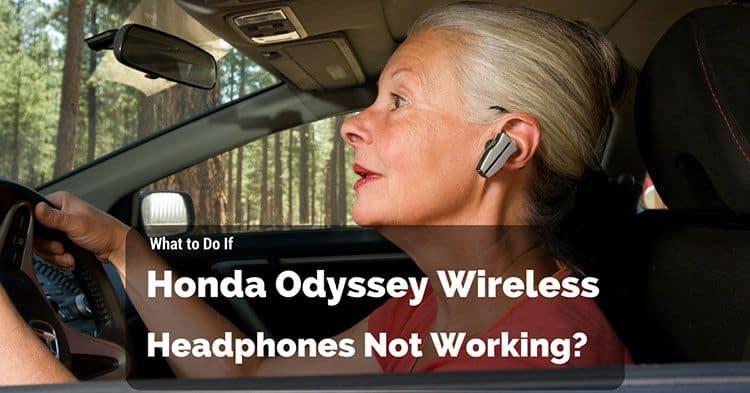 honda odyssey wireless headphones  working