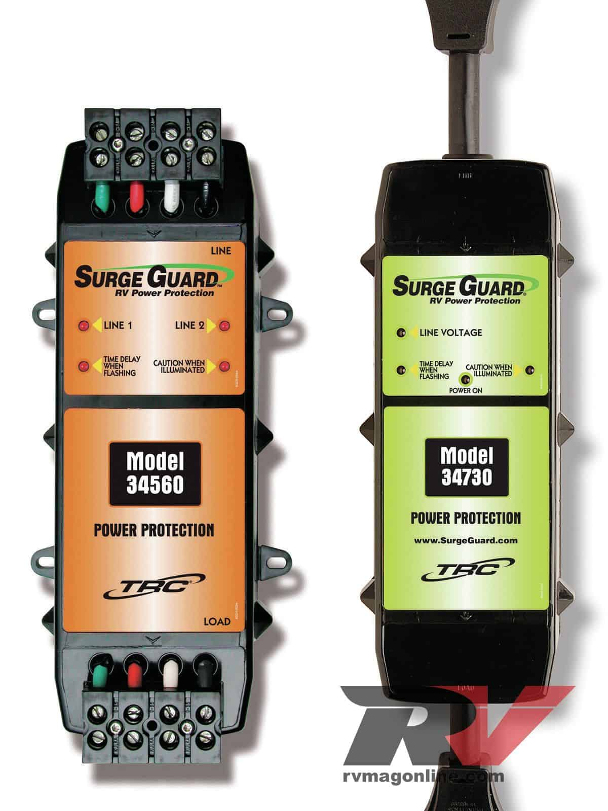 What are the different types of RV surge protector