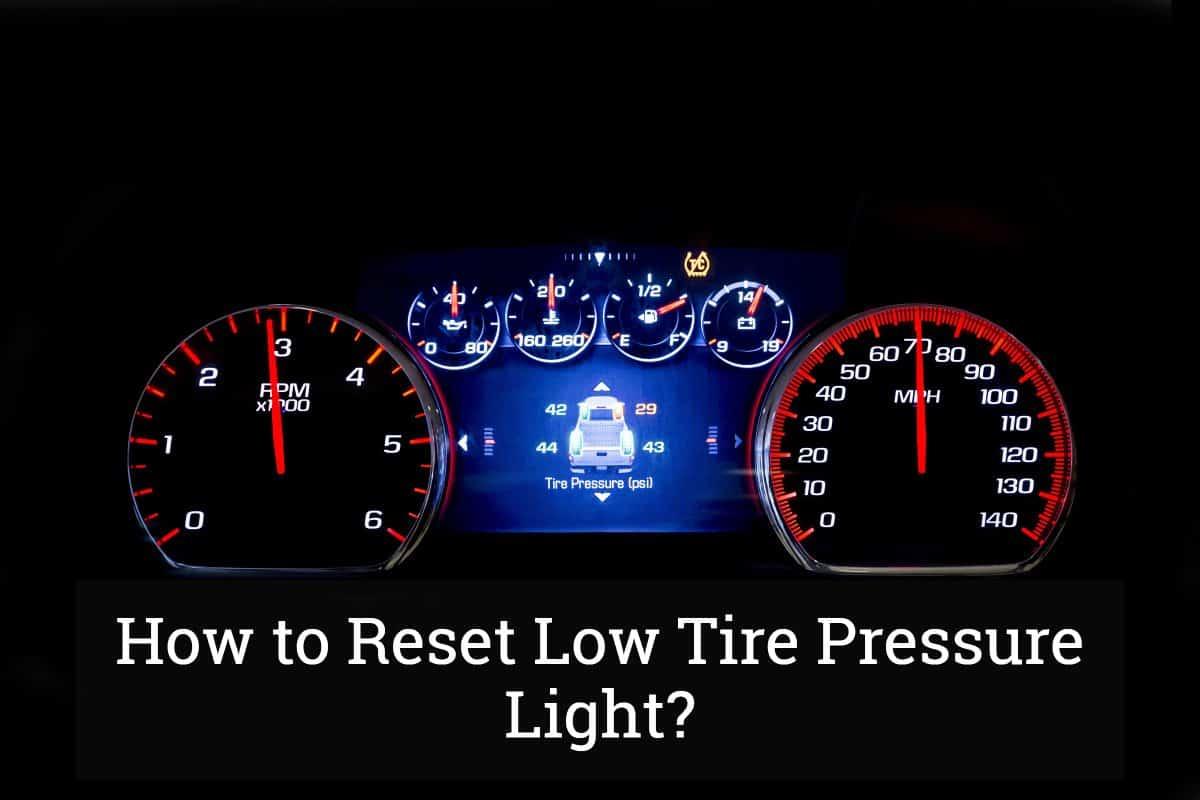 reset  tire pressure light update