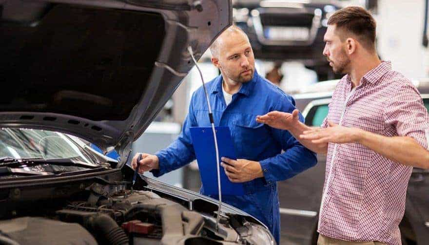 talk to auto mechanic