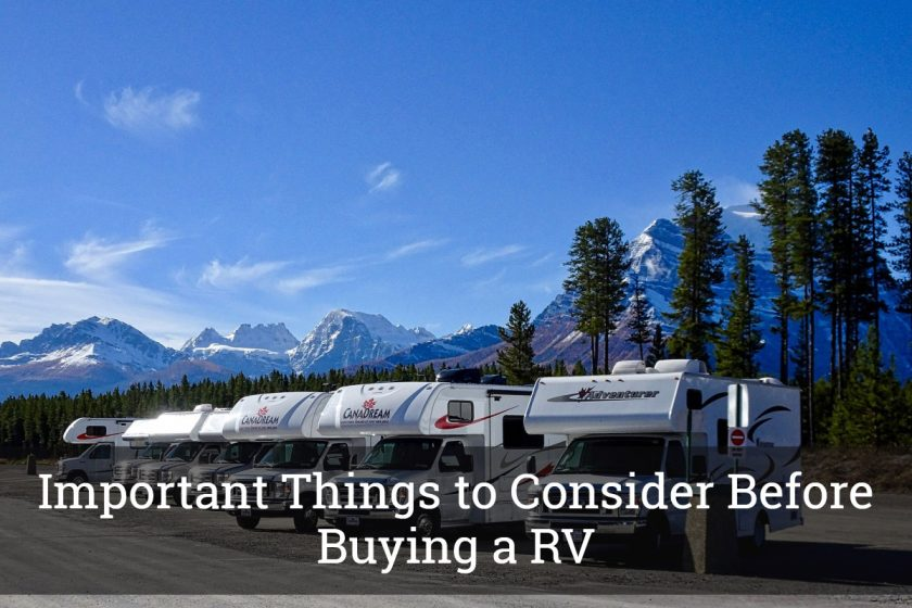 Important Things to Consider Before Buying a RV